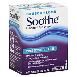 Bausch + Lomb Soothe® 28-Count Lubricant Eye Drops Preservative Free