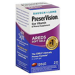 Bausch + Lomb PreserVision® 120-Count Eye Vitamin AREDS Formula in Soft Gels