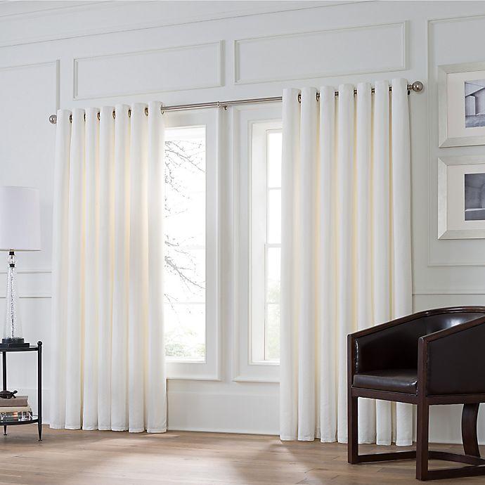 Alternate image 1 for Valeron Stradivari Room Darkening Double Width Window Curtain Panel