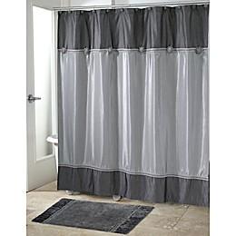 Avanti Braided Medallion Shower Curtain in Granite