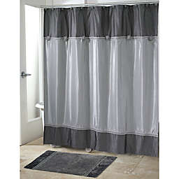 Avanti Braided Medallion Shower Curtain in Granite