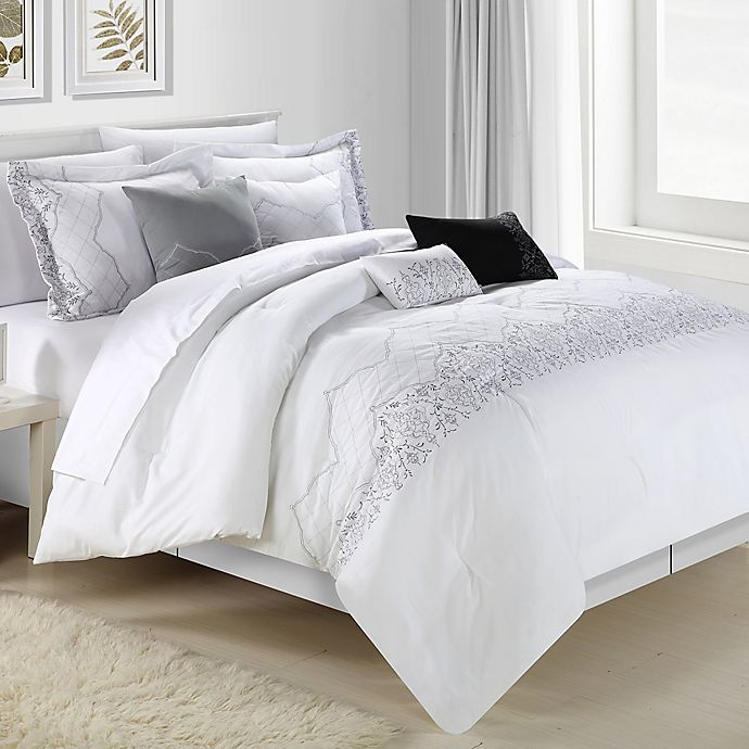 Alternate image 1 for Chic Home Gracia 12-Piece Comforter Set in White