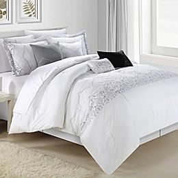 Chic Home Gracia 8-Piece Comforter Set in White