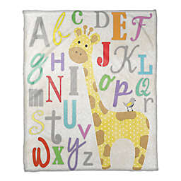 Alphabet Giraffe Throw Blanket