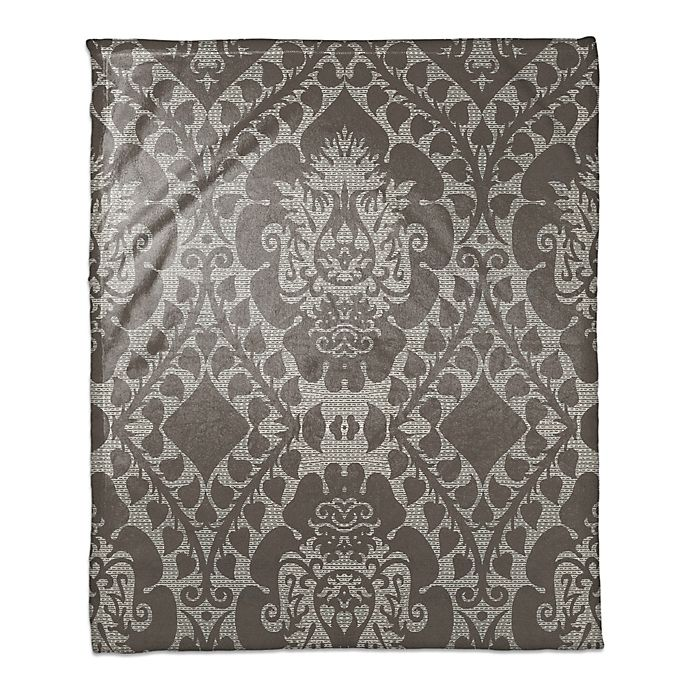 Alternate image 1 for Ornate Tapestry Throw Blanket in Brown
