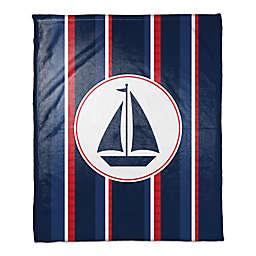 Sailboat Throw Blanket in Blue/Red