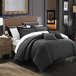 Chic Home Kanya 7-Piece King Comforter Set in Black