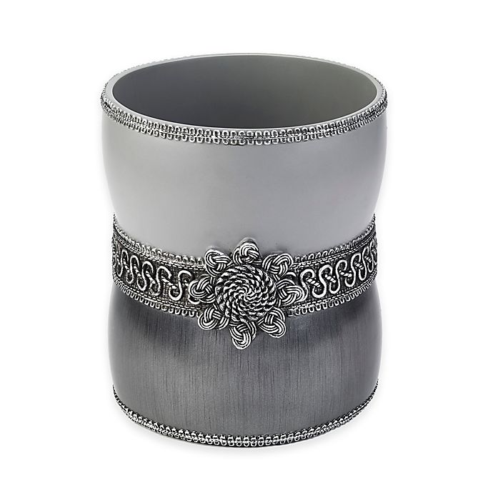 Alternate image 1 for Avanti Braided Medallion Wastebasket in Granite