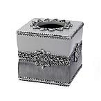 Avanti Braided Medallion Boutique Tissue Box Cover in Granite