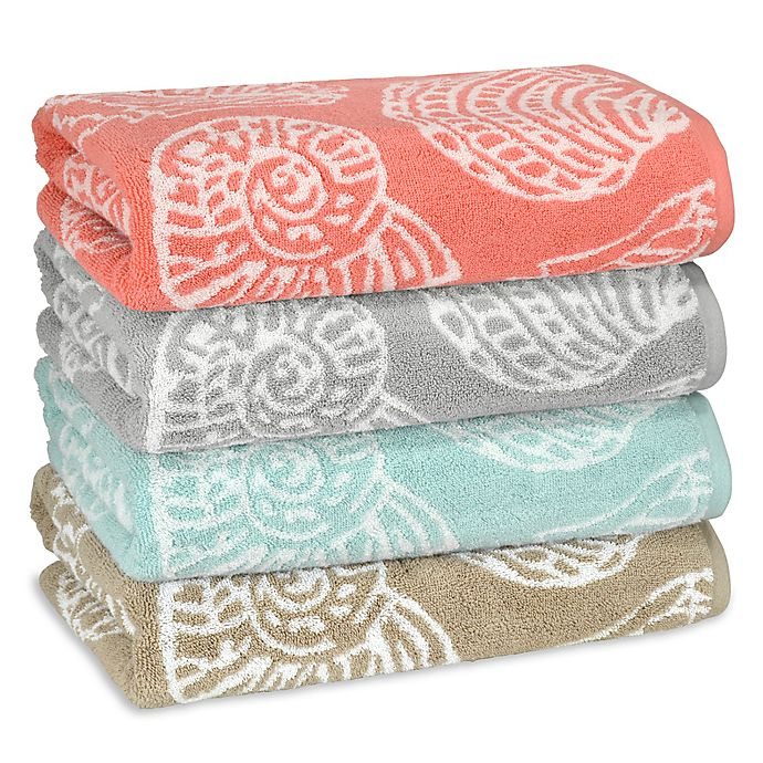 Alternate image 1 for Sea Life Bath Towel Collection