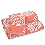 Sea Life Hand Towel in Coral