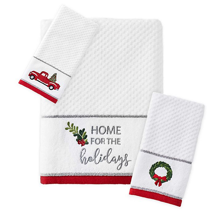 Alternate image 1 for Holiday Trucks Bath Towel Collection