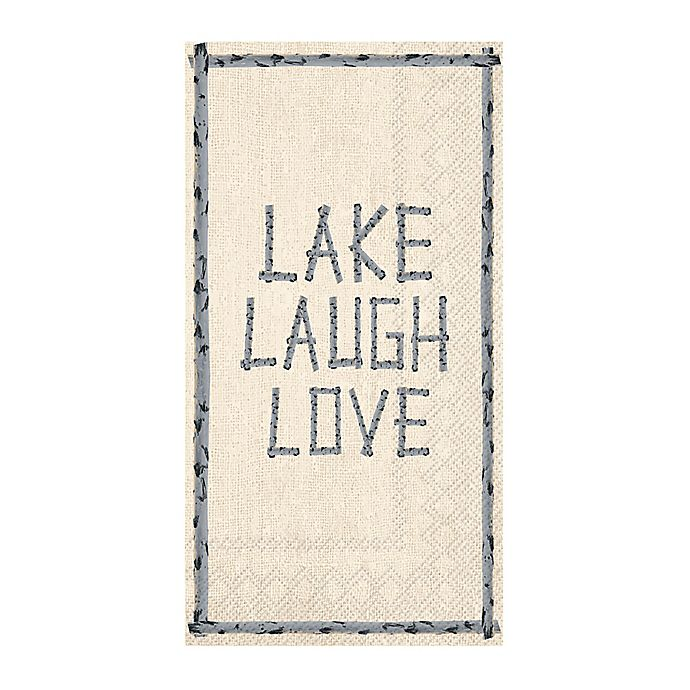 "Paper Guest Towels Bathroom: ""Lake Laugh Love"" 3-Ply Paper Guest Towels"