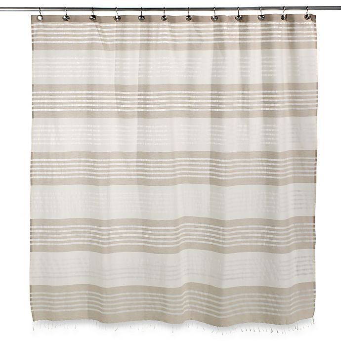 Caro Home Porto Stripe Shower Curtain