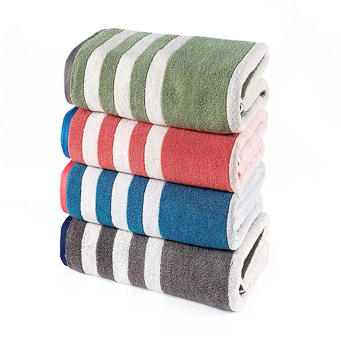Alternate image 1 for Riviera Stripe Bath Towel Collection