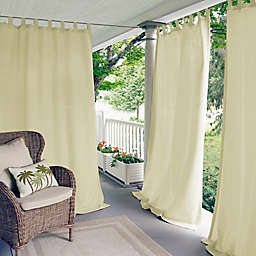 Elrene Matine 84-Inch Indoor/Outdoor Tab Top Window Curtain Panel in Ivory