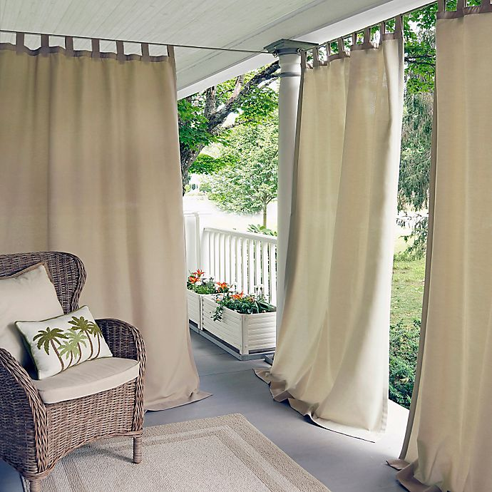 Alternate image 1 for Elrene Matine Indoor/Outdoor Tab Top Window Curtain Panel