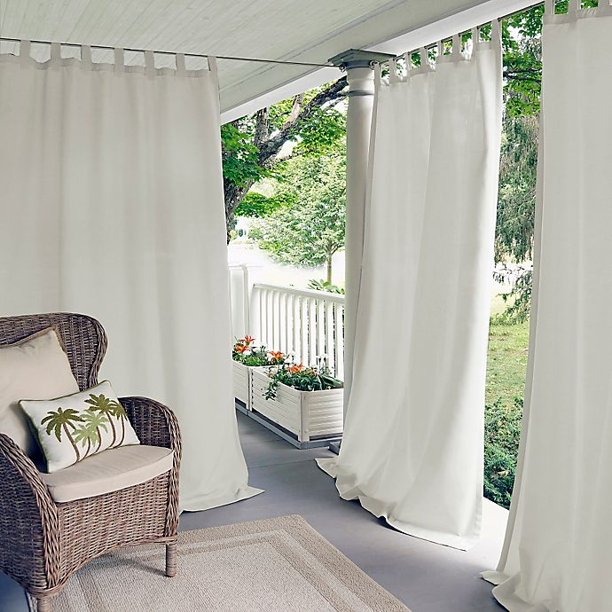 Alternate image 1 for Elrene Matine Indoor/Outdoor Light Filtering Tab Top Window Curtain Panel (Single)