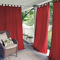 Elrene Matine 108-Inch Indoor/Outdoor Tab Top Window Curtain Panel in Red (Single)
