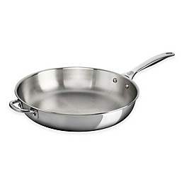 Le Creuset® Tri-Ply Stainless Steel Deep Fry Pans with Helper Handle