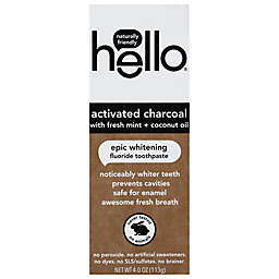 Hello® 4 oz. Activated Charcoal Whitening Fluoride Toothpaste