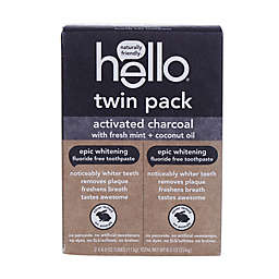 hello® 2-Pack Charcoal Epic Whitening Fluoride-Free Toothpaste
