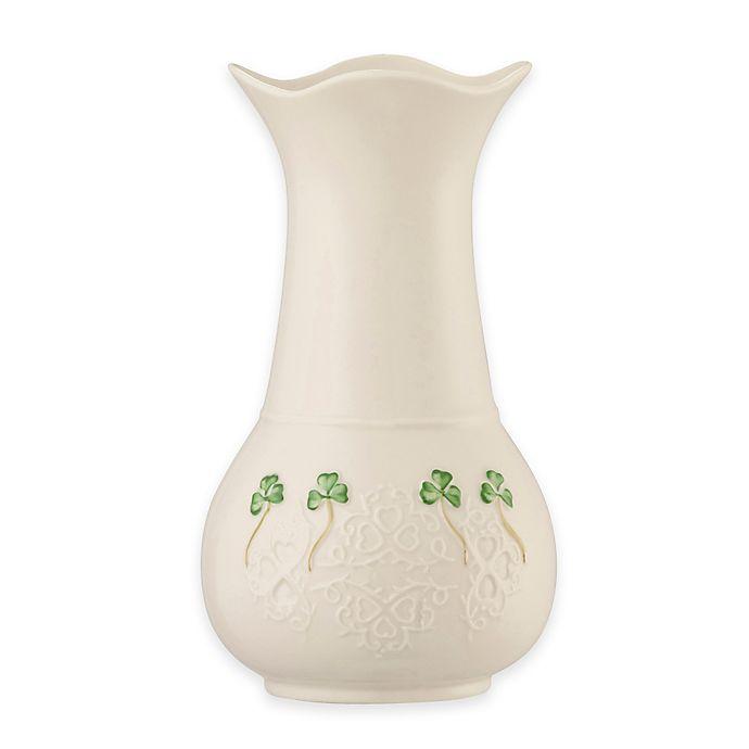 Alternate image 1 for Belleek Shamrock Lace 7-Inch Vase