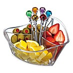 Prodyne Happy Hour Garnish Server and Diamond Picks Set