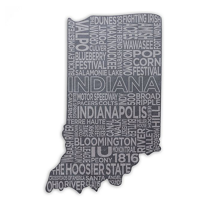Top Shelf Living Indiana Etched Slate Cheese Board Bed