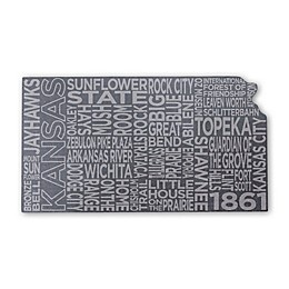 Top Shelf Living Kansas Etched Slate Cheese Board