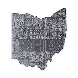 Top Shelf Living Ohio Etched Slate Cheese Board