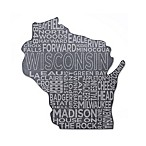 Top Shelf Living Wisconsin Etched Slate Cheese Board