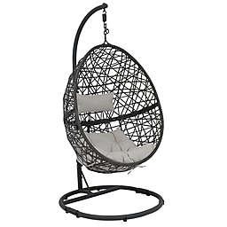 Sunnydaze Decor Caroline Wicker Hanging Egg Chair