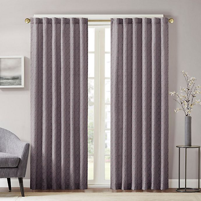 Alternate image 1 for Aliya Rod Pocket/Back Tab Window Curtain Panel