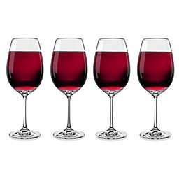 Red Vanilla Viola Red Wine Glasses (Set of 4)