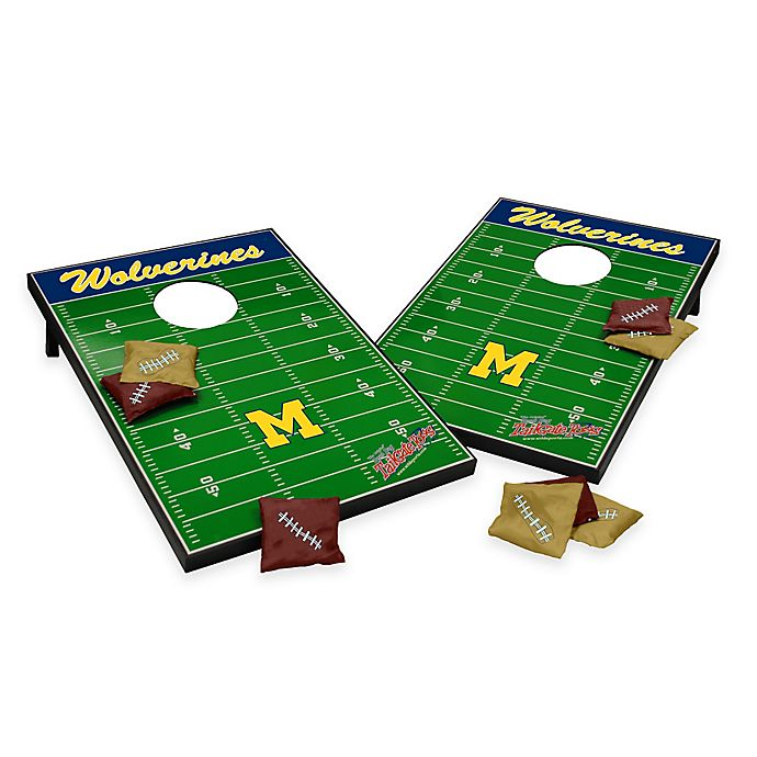 Alternate image 1 for NCAA University of Michigan Field Tailgate Toss Cornhole Game