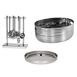 Pinstripe Stainless Steel Bar Collection