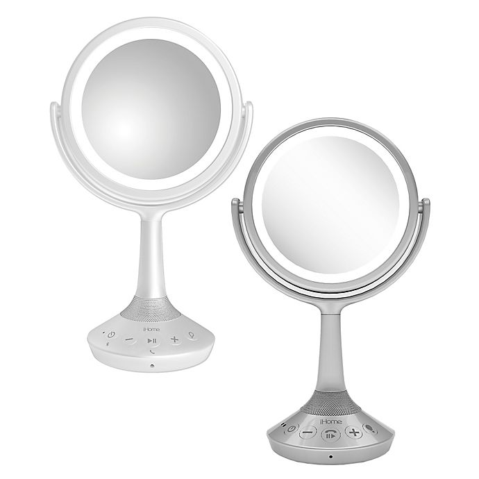 Alternate image 1 for iHome® Bluetooth® Double-Sided 6-Inch Vanity Mirror Speaker