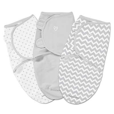 Summer Infant® SwaddleMe® 3-Pack Small/Medium Chevron/Stars Swaddles in Grey