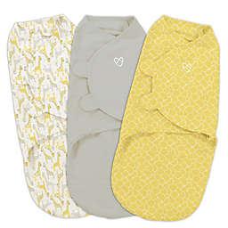 Summer Infant® SwaddleMe® 3-Pack Small/Medium Safari Swaddles in Grey/Yellow