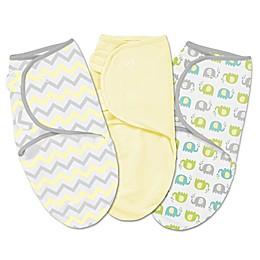 Summer Infant® SwaddleMe® 3-Pack Small/Medium Chevron Elephant Swaddles in Multicolor