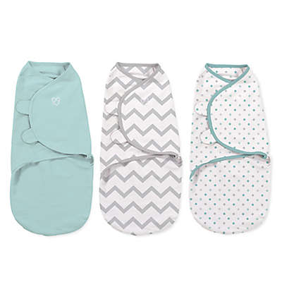 Summer Infant® SwaddleMe® 3-Pack Small/Medium Zig Zag Party Swaddles in Multicolor