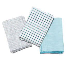 Summer Infant® 3-Pack Follow the Heart Muslin Blankets in Blue