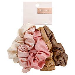 Kitsch 5-Pack Metallic Scrunchies in Blush/Mauve