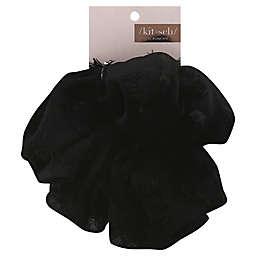 Kitsch Frayed XL Scrunchie in Black