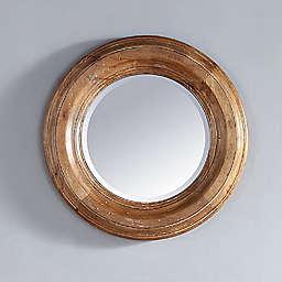 James Martin Furniture Malibu 26-Inch Round Mirror in Honey Alder