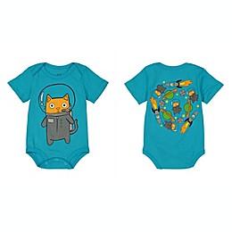 Doodle Pants® Astro Cat Bodysuit in Blue