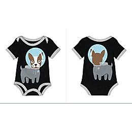 Doodle Pants® Space Dog Bodysuit in Black