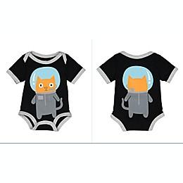 Doodle Pants® Space Cat Bodysuit in Black