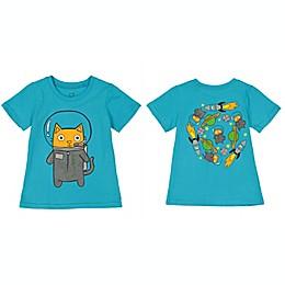 Doodle Pants® Astro Cat Shirt in Blue